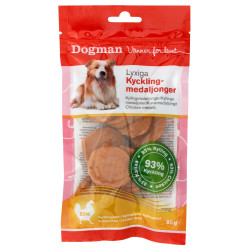 Dogman Kycklingmedaljonger 80g