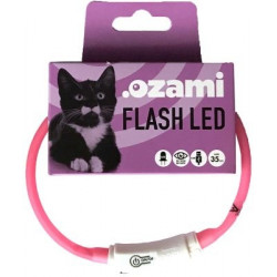 HALSBAND FLASH LED ROSA 35CM