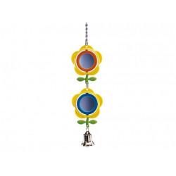 Fågelleksak Plast - Spegel Blomma - 24cm