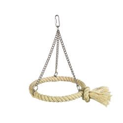 Fågelleksak Sisal/Metall - Sittring - 24x18cm