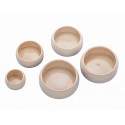 Skål Keramik - Rund med kant - 125ml - Beige