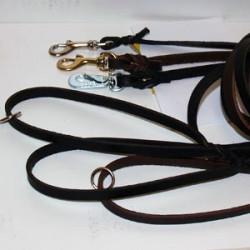 Läderkoppel 10 mm brett, 180 cm långt