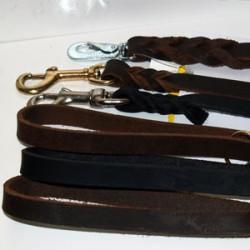 Läderkoppel 15 mm brett, 180 cm långt
